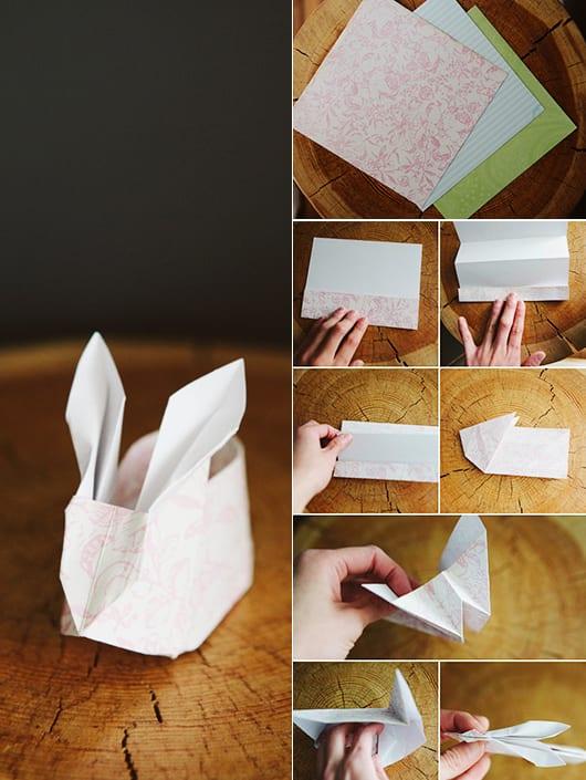 osterhase basteln aus papier als kreative osterbastelidee f r osterhase verpackung freshouse. Black Bedroom Furniture Sets. Home Design Ideas