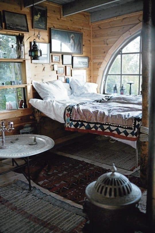 schlafzimmer ideen im boho stil_kleine schlafzimmer rustikal ...