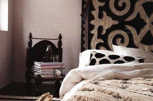 Holzfußboden Schlafzimmer ~ Schlafzimmer ideen im boho stil kleines schlafzimmer gestalten mit