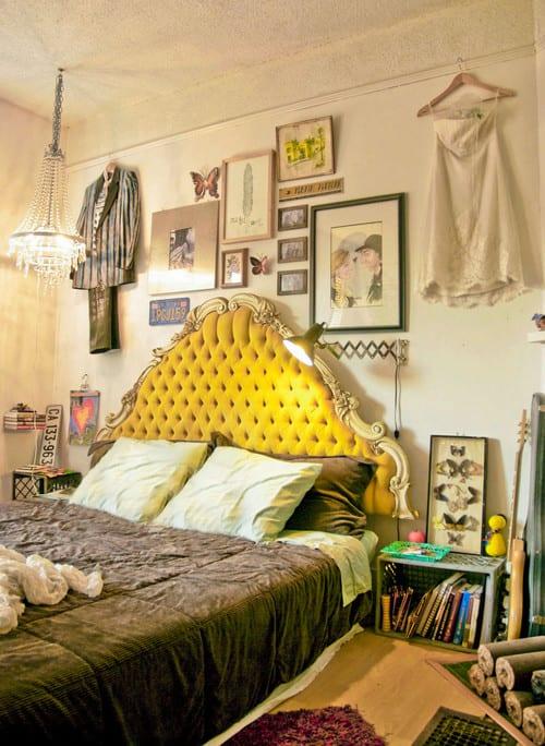 Schlafzimmer Ideen Im Boho Stil Kreative Wandgestaltung Mit Kleidung