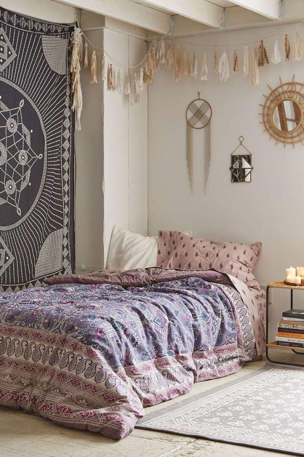 Wunderbar Schlafzimmer Ideen Im Boho Stil_passende Wandgestaltung Und Schlafzimmer  Dekoration Für Boho Chic Style