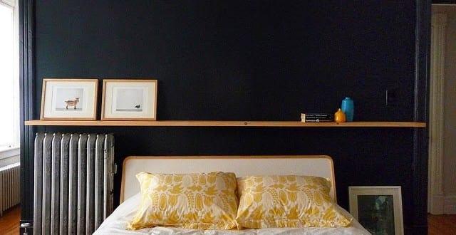schwarze wände als akzentwand im schlafzimmer_kreative ...