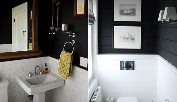 schwarze w nde als wand streichen idee f r kleine r ume coole wohnideen und farbgestaltung in. Black Bedroom Furniture Sets. Home Design Ideas