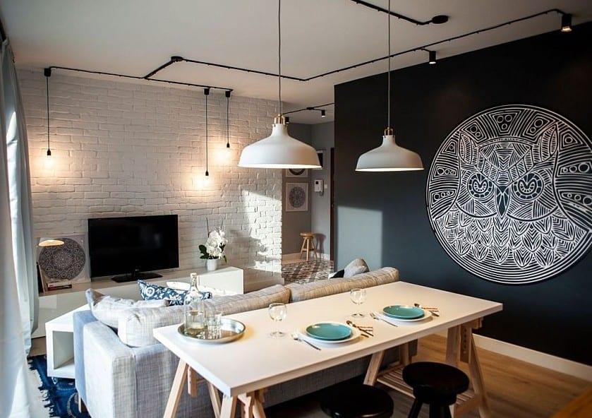 Esszimmer farbgestaltung  schwarze wände für moderne farbgestaltung kleiner wohn esszimmer ...
