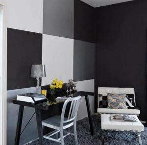 Schwarze w nde f r moderne raum und farbgestaltung im wohnzimmer kreative wand streichen ideen - Wand schwarz streichen ...