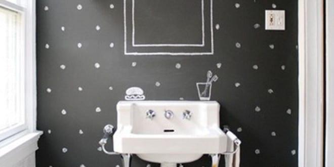 schwarze w nde im badezimmer coole wand streichen idee mit wandfarbe schwarz f r kleine. Black Bedroom Furniture Sets. Home Design Ideas