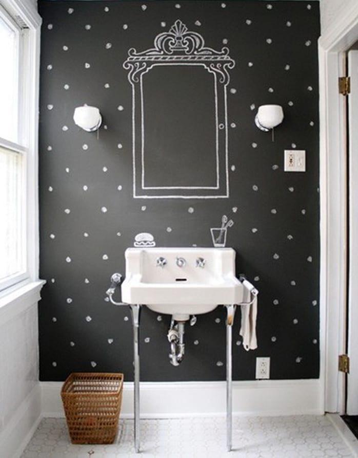 Schwarze Wande Im Badezimmer Coole Wand Streichen Idee Mit Wandfarbe