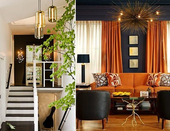 Schwarze w nde mit anderen farben kombinieren coole for Raumgestaltung mit farben