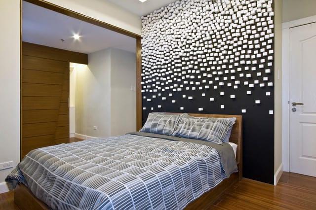Schwarze Wände_kreative Wandgestaltung Und Streich Ideen Schlafzimmer