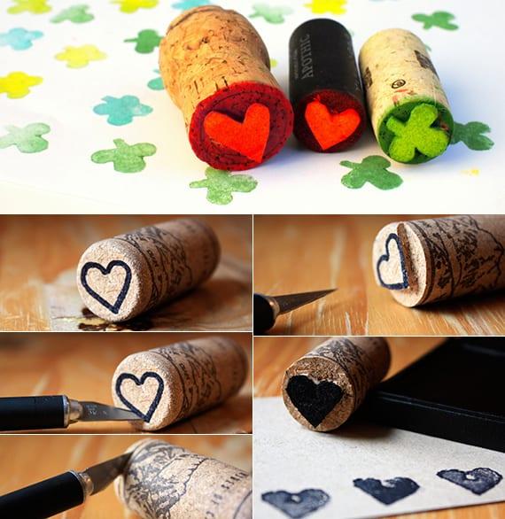 Basteln Mit Korken Kreative Und Einfache Bastelideen Fur Diy Herz