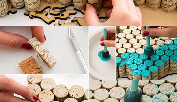 basteln mit korken kreative und einfache bastelideen f r kork deko und kreative wanddeko freshouse. Black Bedroom Furniture Sets. Home Design Ideas