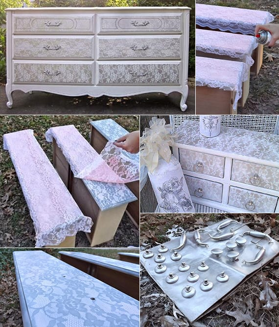 deko basteln mit spitze einfache bastelideen f r diy shabby chic m bel freshouse. Black Bedroom Furniture Sets. Home Design Ideas