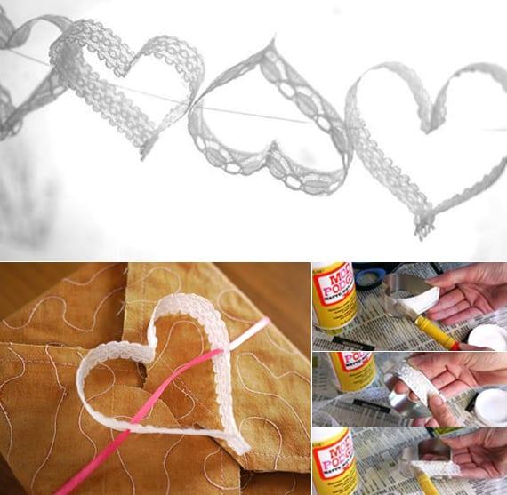 Deko Basteln Mit Spitzekreative Idee Für Hochzeitsdeko Mit
