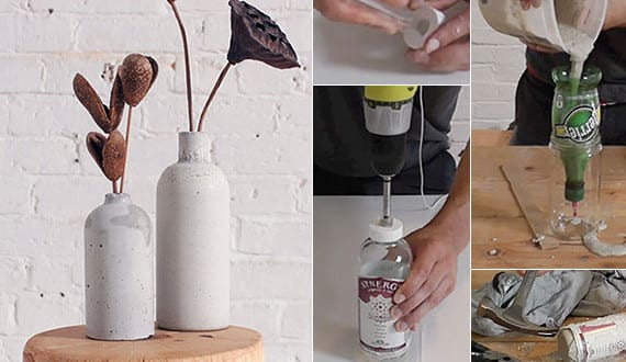 diy vase aus beton coole idee f r basteln mit beton freshouse. Black Bedroom Furniture Sets. Home Design Ideas