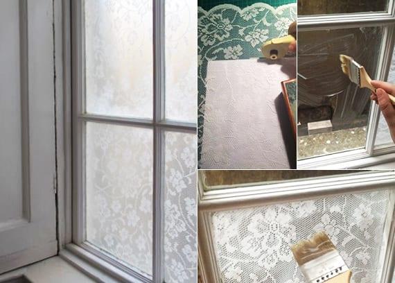Fensterdeko Basteln Mit Spitze Coole Idee Fur Diy Fensterschutz Mit