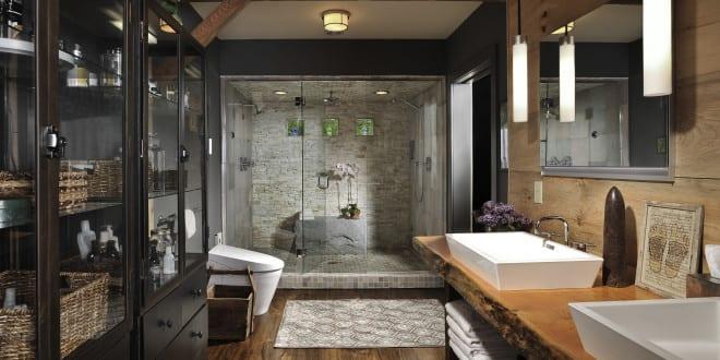 Moderne Badezimmer Im Vintage Style_badezimmer Ideen Für Retro Bad Mit  Vintage Waschtisch Holz Und Moderne