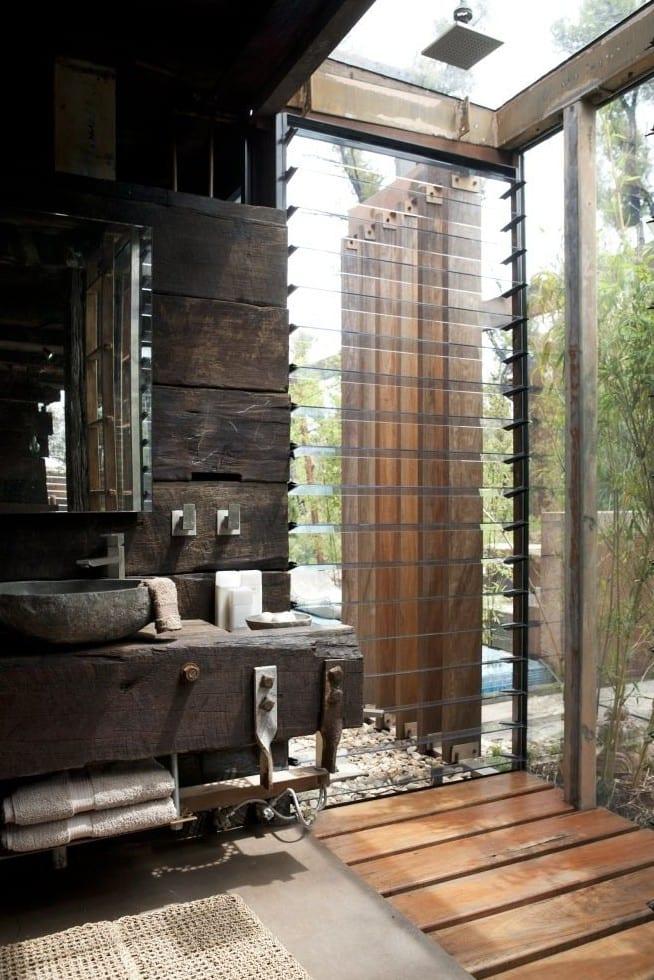 moderne badezimmer im vintage style_kreative badezimmer ...