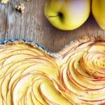 rezept fpr valentinstag kuchen mit Äpfeln in Herzform