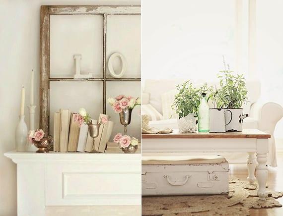 Vintage-deko-ideen-in-weiß-mit-vintage-möbeln-und