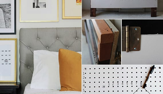 ausgefallene schlafzimmer ideen f r bett kopfteil selber. Black Bedroom Furniture Sets. Home Design Ideas