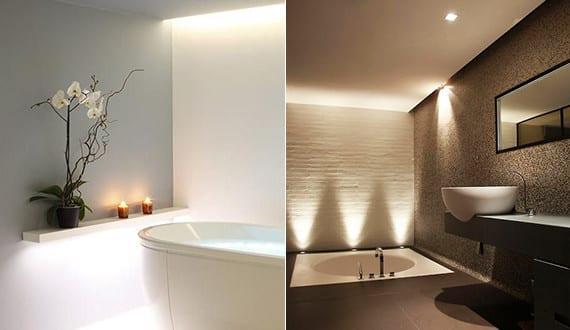 bad modern gestalten mit licht coole badezimmer ideen f r akzentbeleuchtung durch punktlichter. Black Bedroom Furniture Sets. Home Design Ideas