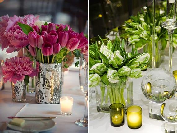 blumendeko hochzeit mit tulpen als inspiration zum tisch dekorieren mit tulpen freshouse. Black Bedroom Furniture Sets. Home Design Ideas