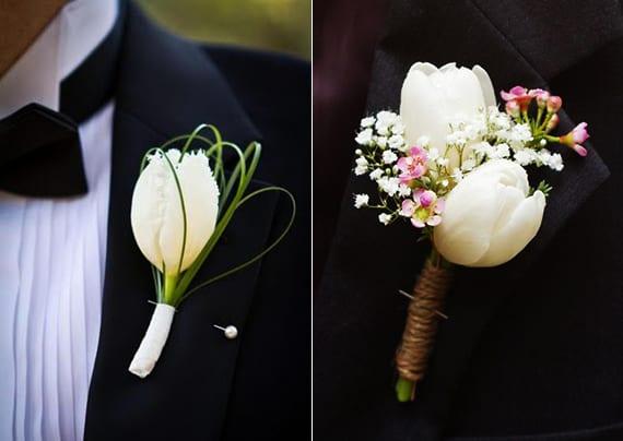 Blumendeko Hochzeit Mit Tulpen Tulpe Blumenanstecker Weiss Freshouse