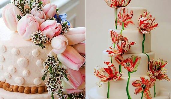 coole blumendeko hochzeit mit tulpen als dekoration f r hochzeitstorte freshouse. Black Bedroom Furniture Sets. Home Design Ideas