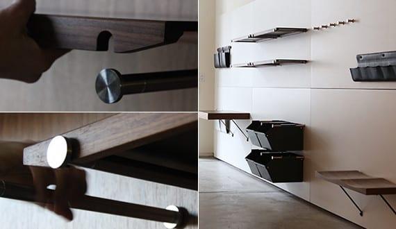 Design inspiration die kleinen details in design moderne wandregale holz und kreative ideen f r - Kreative wandregale ...
