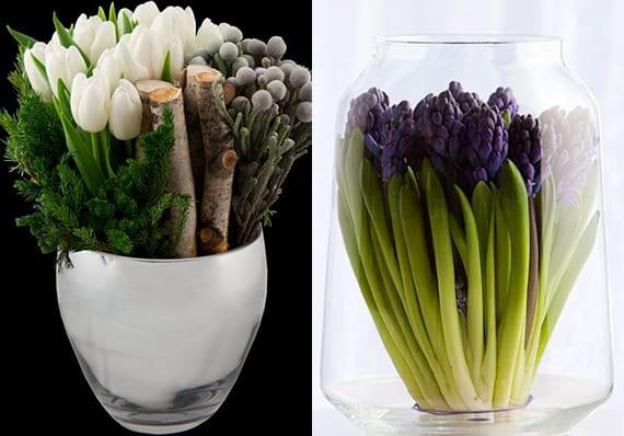 Fruhlingsdeko Mit Fruhlingsblumen Blumen Im Glas Als Tischdeko