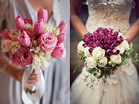Inspiration Fur Blumendeko Hochzeit Und Brautstrauss Mit Tulpen Und
