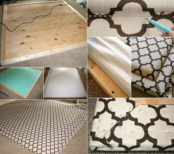 schlafzimmer ideen f r bett kopfteil selber machen als gepolsterte bett r ckwand freshouse. Black Bedroom Furniture Sets. Home Design Ideas