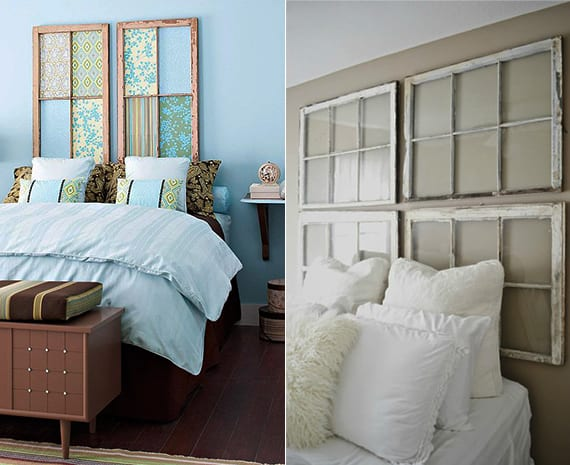 schlafzimmer ideen f r bett kopfteil selber machen aus fensterrahmen freshouse. Black Bedroom Furniture Sets. Home Design Ideas