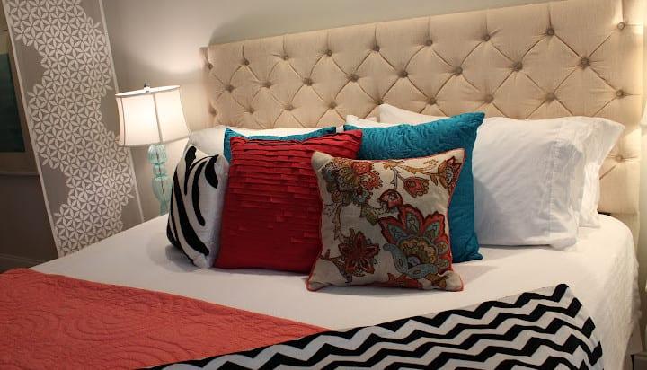 schlafzimmer ideen f r bett kopfteil selber machen und f r schlafzimmergestaltung in wei und. Black Bedroom Furniture Sets. Home Design Ideas