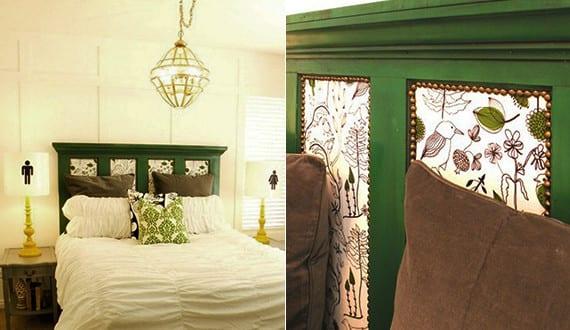 schlafzimmer ideen f r bett kopfteil selber machen schlafzimmer gestalten in gr n mit diy bett. Black Bedroom Furniture Sets. Home Design Ideas