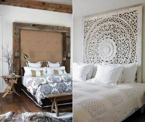 Schlafzimmer ideen f r bett kopfteil selber machen originelle wohnideen schlafzimmer mit - Bett mit ruckwand ...