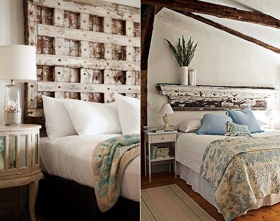 Fesselnd Schlafzimmer Ideen Für Bett Kopfteil Selber Machen_shabby Chic