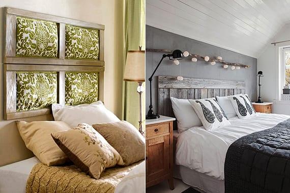 schlafzimmer ideen wandgestaltung und f r bett kopfteil. Black Bedroom Furniture Sets. Home Design Ideas