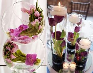 tisch-blumendeko-hochzeit-mit-tulpen_coole-tischdeko-ideen-mit-blumen