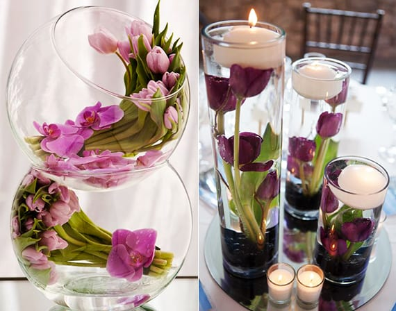 Tisch blumendeko hochzeit mit tulpen coole tischdeko ideen for Raumdekoration ideen