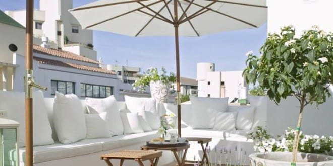 Dachterrassengestaltung  50 coole Ideen für Rooftop Terrassengestaltung in weiß_mediterrane ...