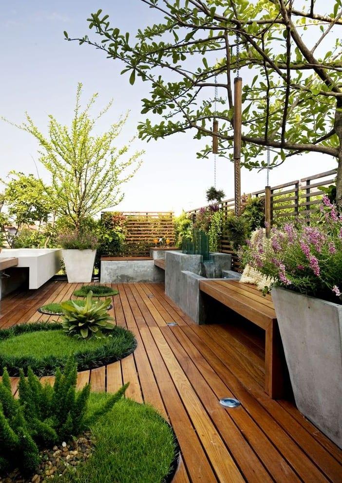 50 Coole Ideen Für Rooftop Terrassengestaltung Mit Beton, Holz Und Pflanzen