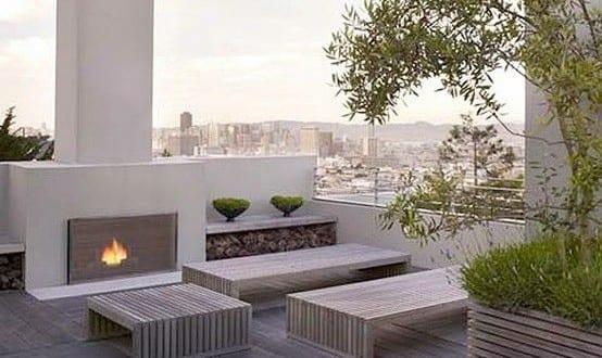 50 Coole Ideen Für Rooftop Terrassengestaltung Moderne Dachterrasse  Gestalten Mit Holzbodenbelag