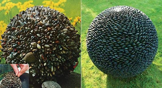 Gartendeko selber machen DIY Gartenkugeln aus steinen fresHouse ~ 30033830_Gartendeko Selber Machen Aus Holz