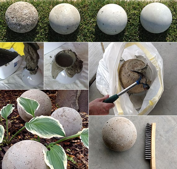 Gartendeko basteln mit kindern  beton-im-garten_kugel-gartendeko-selber-basteln - fresHouse