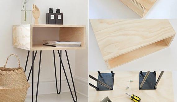 do it yourself deko in schwarz wei und holz dekoideen schlafzimmer mit diy nachttisch holz. Black Bedroom Furniture Sets. Home Design Ideas
