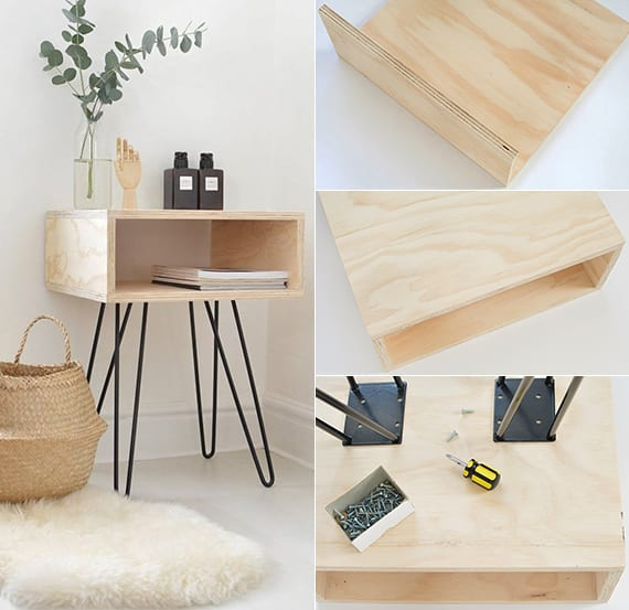 Do it yourself deko in schwarz wei und holz dekoideen for Holz dekoration wohnzimmer