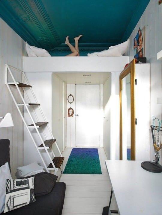 kleine Wohnung einrichten mit Hochhbett_studentenzimmer ideen mit ...