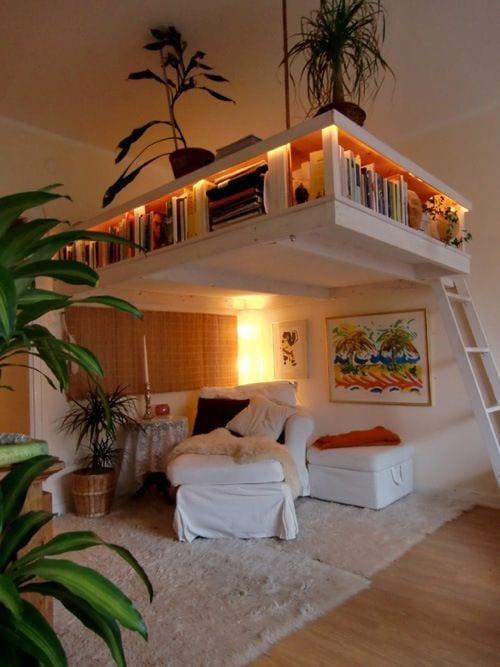 kleine wohnung einrichten mit hochbett über sitzecke - freshouse - Kleine Sitzecke Wohnzimmer