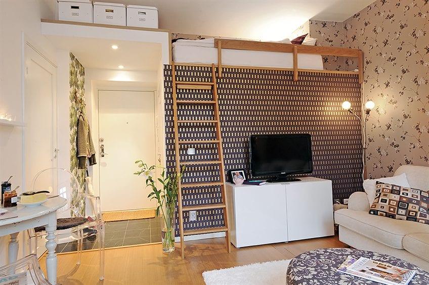 kleine wohnung einrichten mit hochbett beispiele f r zimmer einrichten mit loftbett freshouse. Black Bedroom Furniture Sets. Home Design Ideas